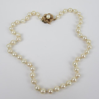 Pearl and 14K Gold Necklace