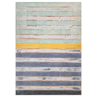 Gregory Hilton Large Scale Painting in Green, Gray & Orange