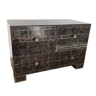 Mica Tiled Four Drawer End Table #1