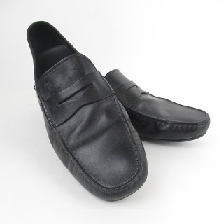 Tod's Black Leather Driving Mocs