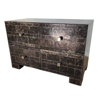Mica Tiled Four Drawer End Table #2