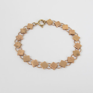 14K Rose Gold Geometric Bracelet