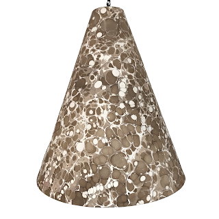 Archistoric Products Marbelized Paper Pendant Light