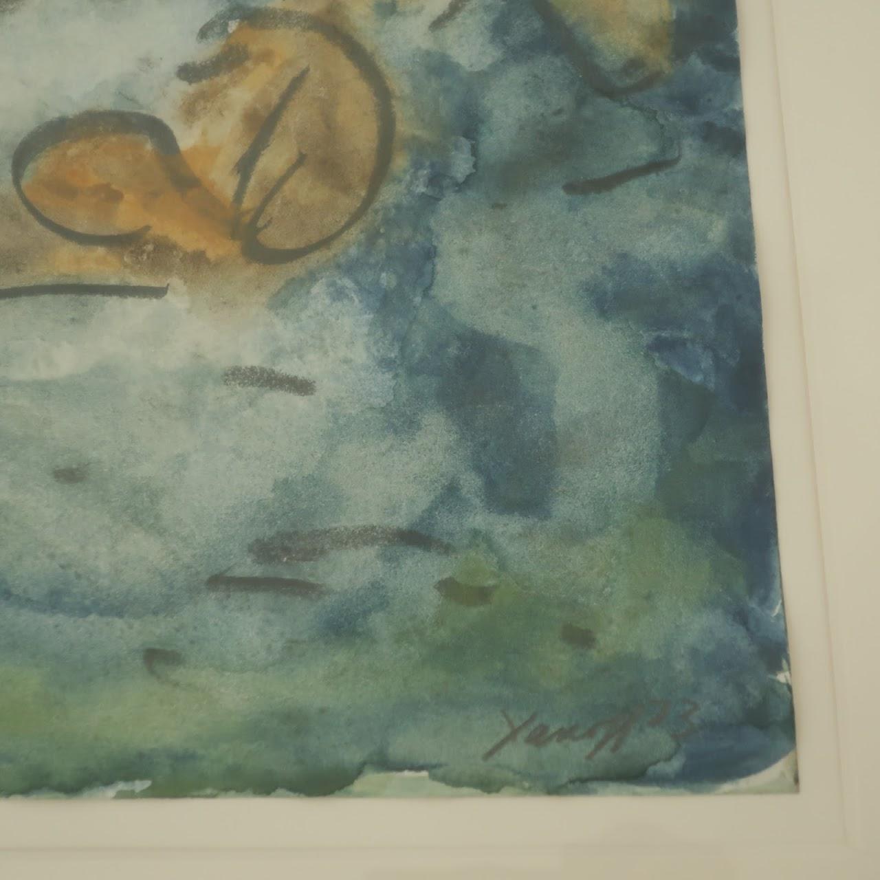 Arthur Yanoff Signed Watercolor Painting