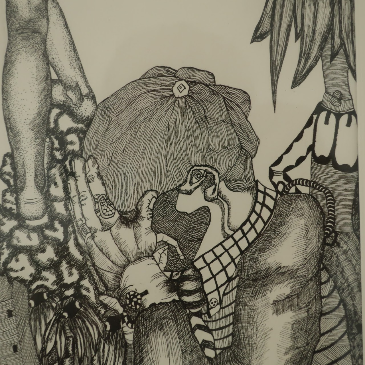 S.E.B. Signed Psychedelic Drawing