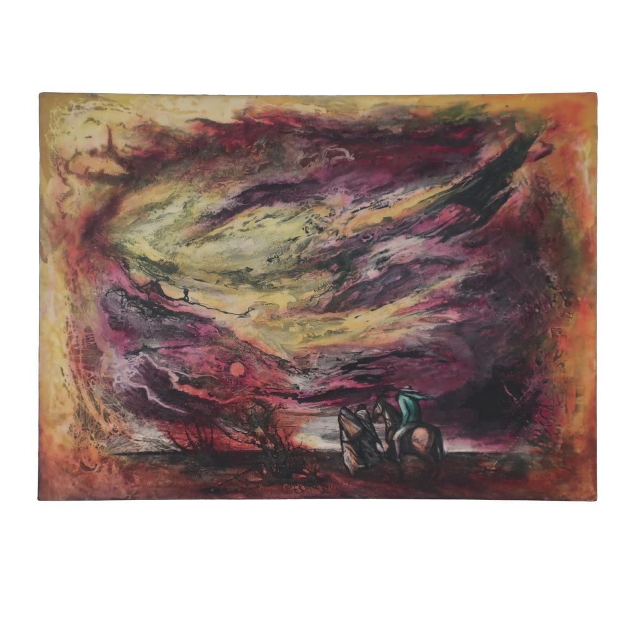 Hector Ayala Signed Painting