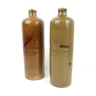 Glazed Pottery Wine Bottles