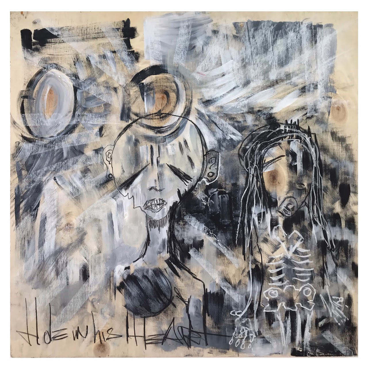 Davey Cadaver 'Love Is Blind' Signed Mixed Media Painting