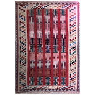 Wool Kilim Geometric Area Rug