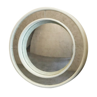 Julian Chichester Convex Verre Eglomisé Mirror