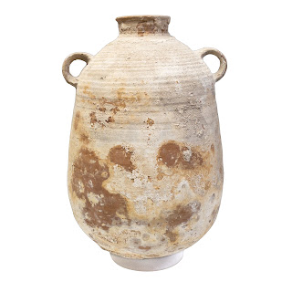 Antique Large Clay Concreated Urn