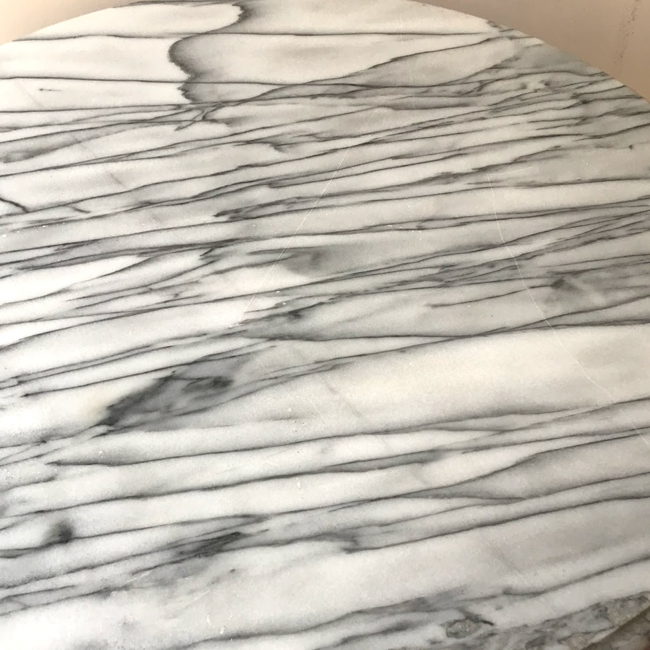 Marble & Cast Iron Cafe Table