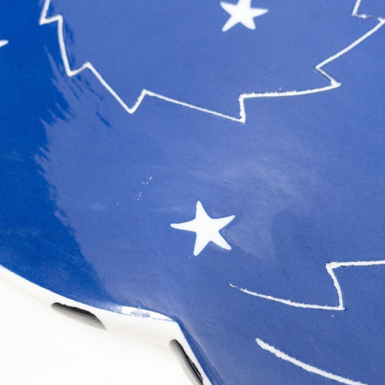 Alison Palmer Signed Starry Cat Platter