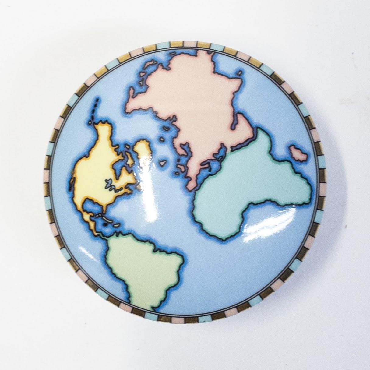 Tiffany & Co. Blue World Trinket Box