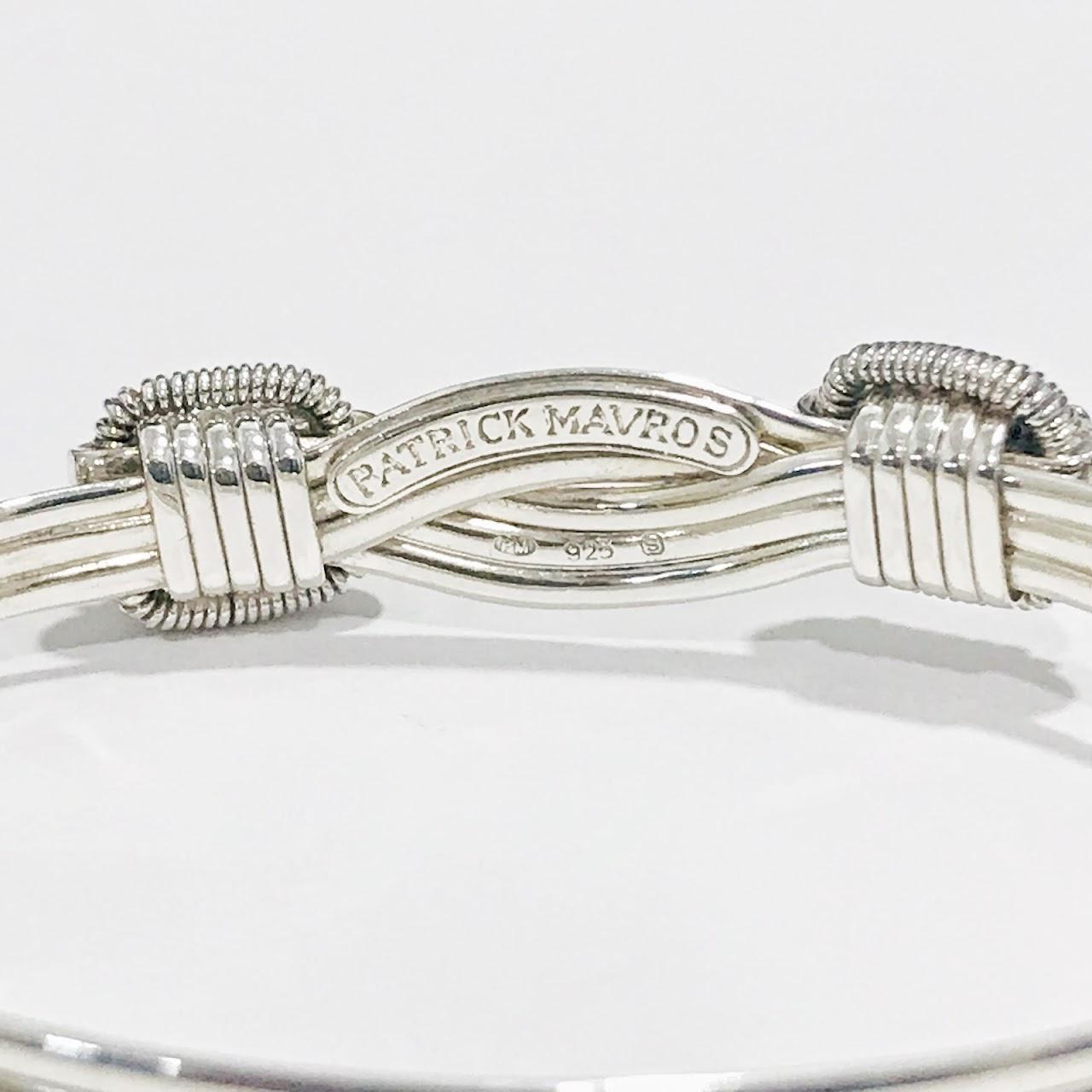 Patrick Mavros Sterling Silver Elephant Hair Bangle