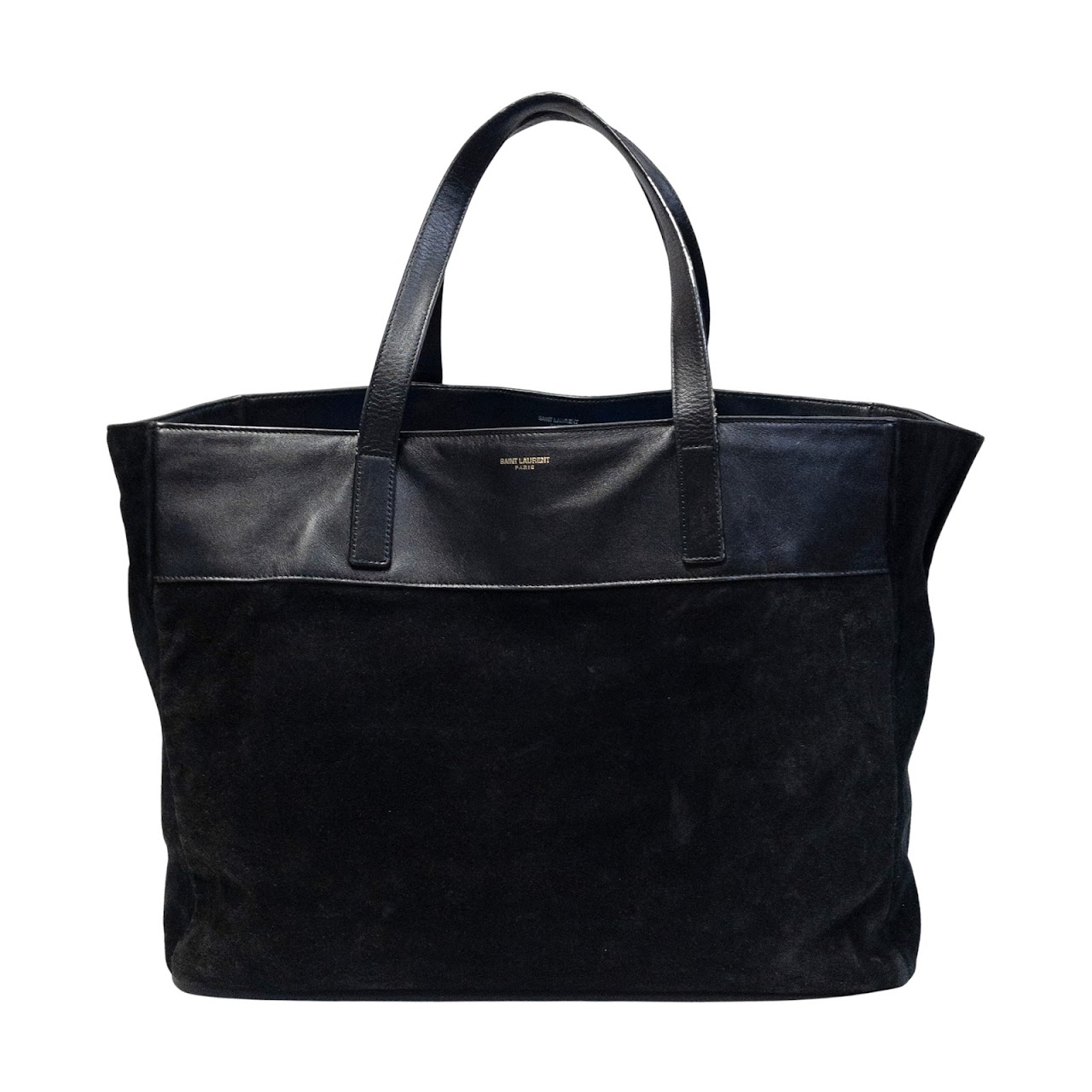 Saint Laurent Reversible Leather and Suede Tote