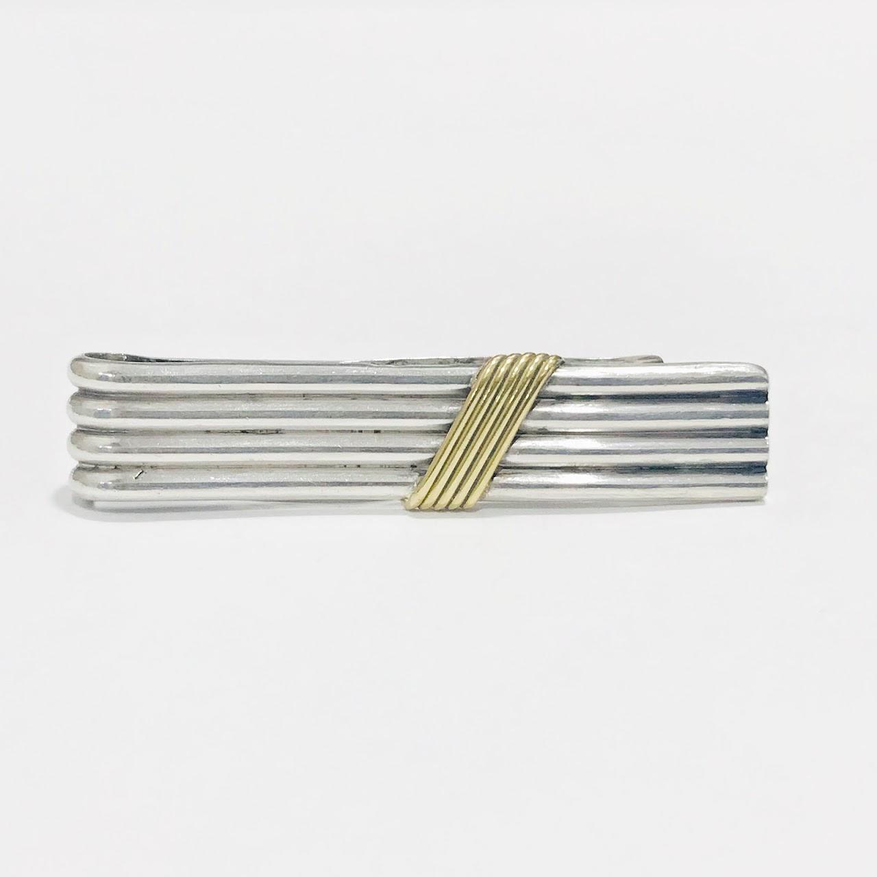 Sterling Silver & 18K Gold Deco Money Clip