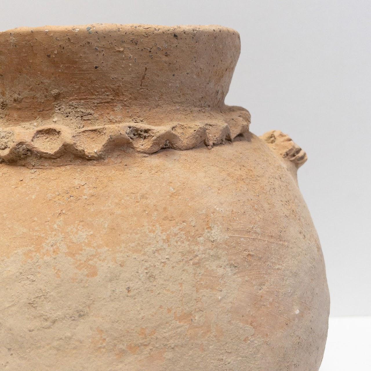 Antique Roman Period Clay Cook Pot