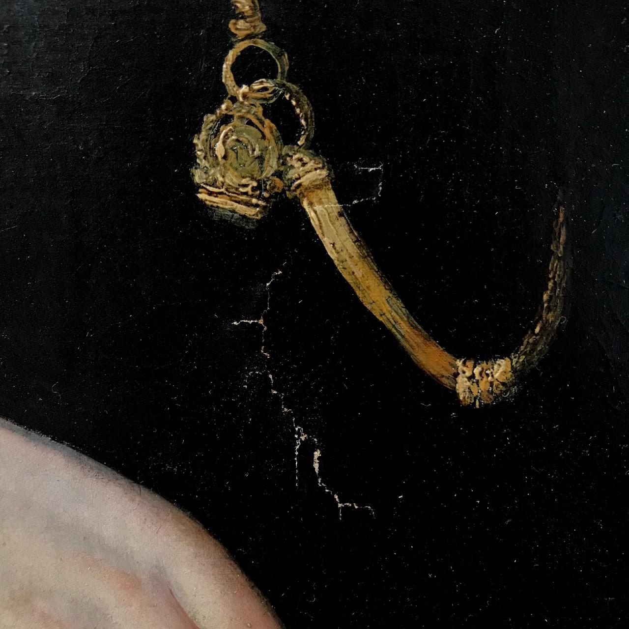 19th C. Oil Portrait Painting