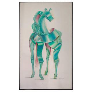 Husidio John Tempest Signed Surrealist Painting