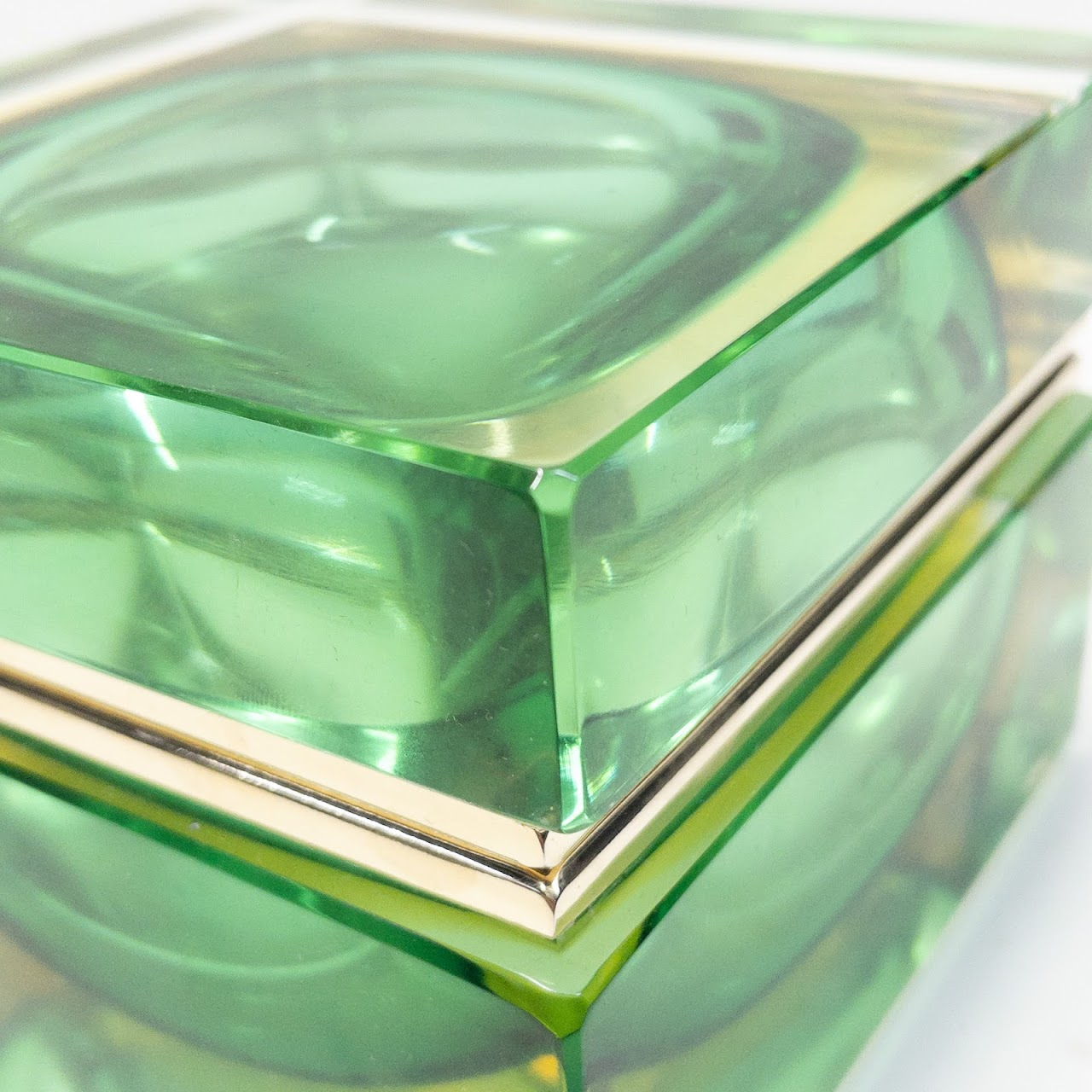 Alessandro Mandruzzato Verde Murano Glass Jewel Box