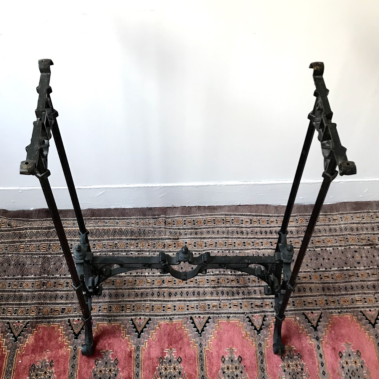 Cast Iron & Marble Entry Table