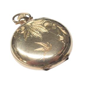 14K Gold & Steel Waltham Co. Pocket Watch