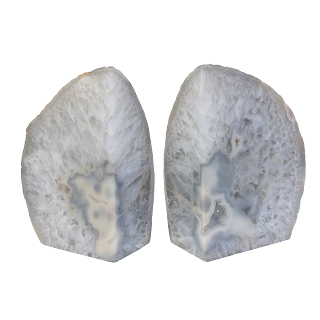 Agate Geode Bookend Pair