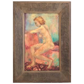 Helberg Signed Nude Oil Painting