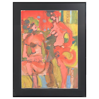 Fabregat Signed Gouache Painting, 1971