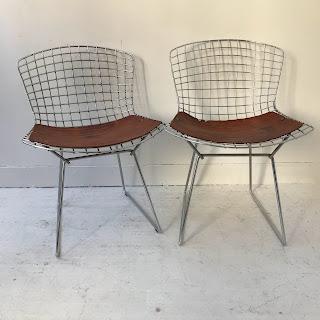 Bertoia Style Chair Pair