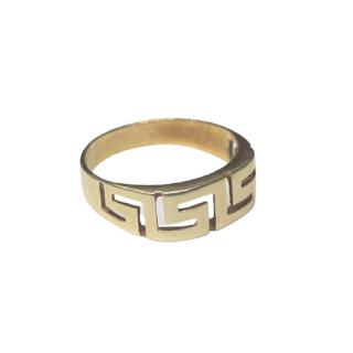 14K Gold Cut Out Greek Key Ring