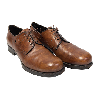 Prada Cognac Derby Shoes