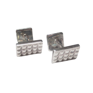 Tiffany & Co. Sterling Silver Diamond Point Cuff Links