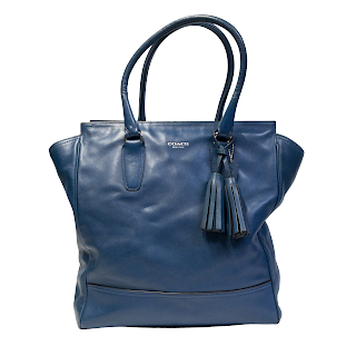 Coach Blue Leather Tanner Tote