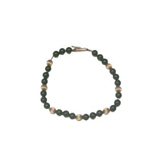 14K Gold & Jade Bead Bracelet