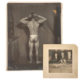 Nude Antique Photograph Pair