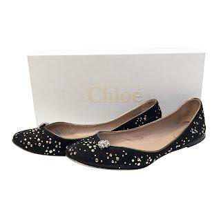 Chloé  Embellished Ballet Flats