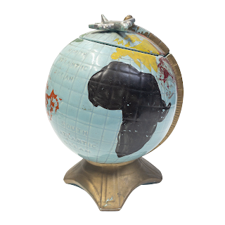 McCoy Globe with Plane Cookie Jar