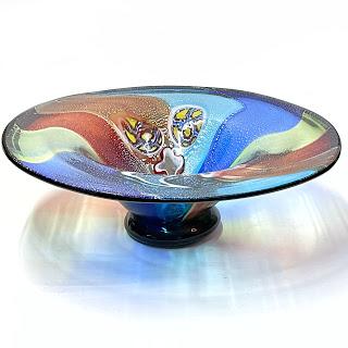 Large Art Glass Centerpiece Bowl