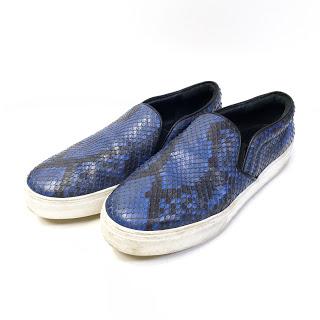Celine Blue Snakeskin Skater Sneaker