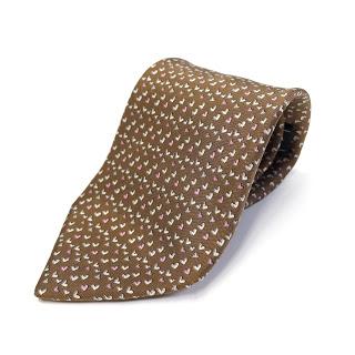 Salvatore Ferragamo Silk Hearts Tie