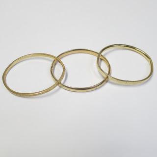 14K & 10K Gold Child's Bracelet Trio