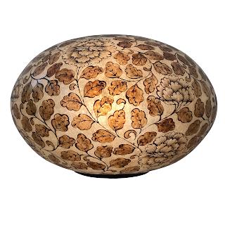 Mid-Century Ovoid Resin Globe Lamp