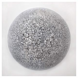 Alexis Duque 'Mandala' Signed Large Scale Painting