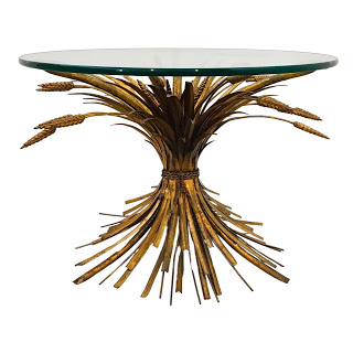 Maison Baguès Style 1950s Sheaf of Wheat Cocktail Table