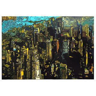 Kip Frace Large Scale Manhattan Cityscape Oil Painting