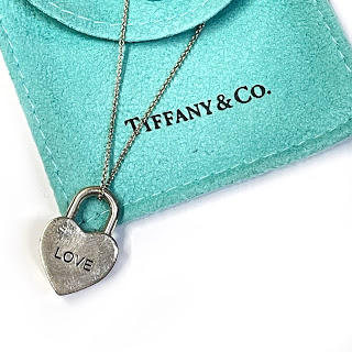 Tiffany & Co. Sterling Silver LOVE Heart Lock Necklace