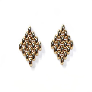 14K Gold  Movement  Drop Earrings