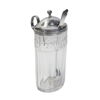 Sterling Silver & Glass Condiment Server